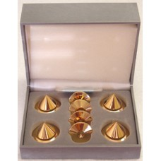 BBC Gold Audio Isolation Metal Cones STD (4 pc),NEW