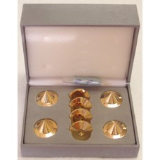 BBC Gold Audio Isolation Metal Cones (4 pc), NEW !!!
