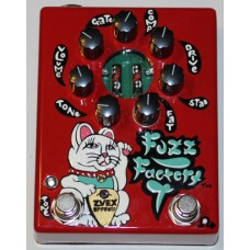 Z.VEX Effects Pedal, Hand Painted Red, Fuzz Factory 7
